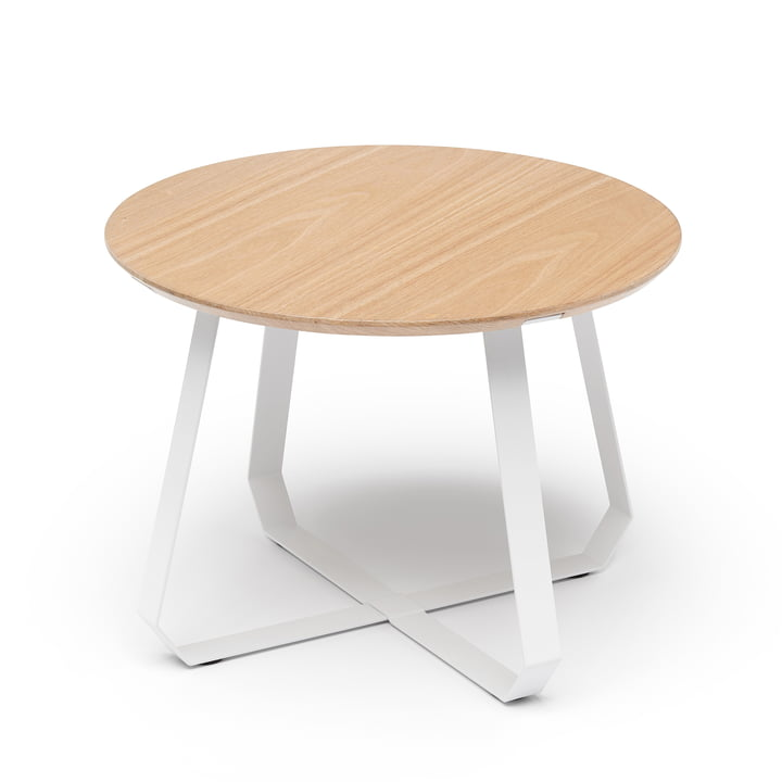 Shunan side table Ø 55 x H 40 cm, ash / white by Puik