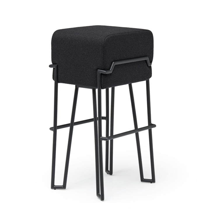 Bokk Bar stool H 76 cm, black / black by Puik