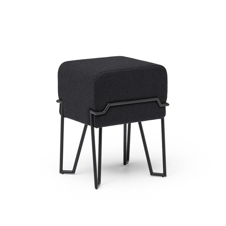 Bokk Stool H 46 cm, black / black from Puik