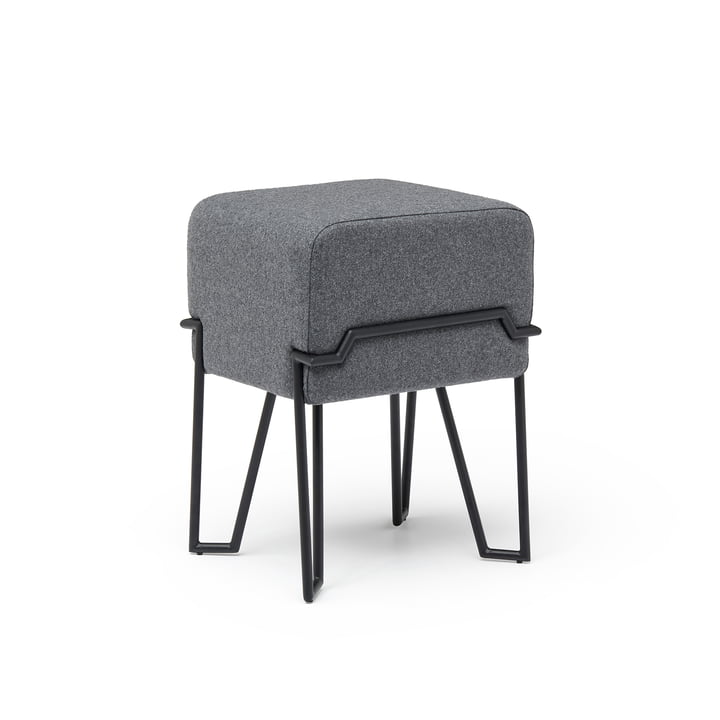 Bokk stool H 52 cm, black / grey by Puik