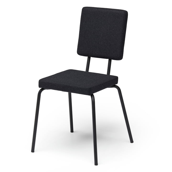 Option chair, seat and backrest square from Puik in black / black