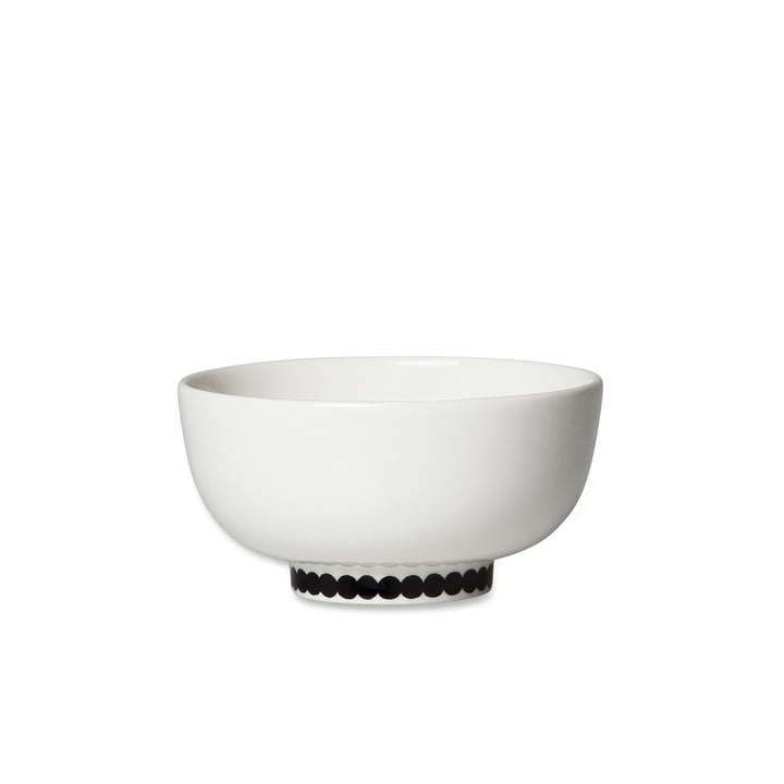 Oiva Räsymatto bowl, 300 ml in white / black by Marimekko