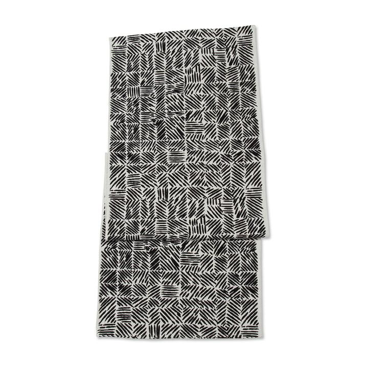 Juustomuotti Table Running 47 x 150 cm by Marimekko in Black / White