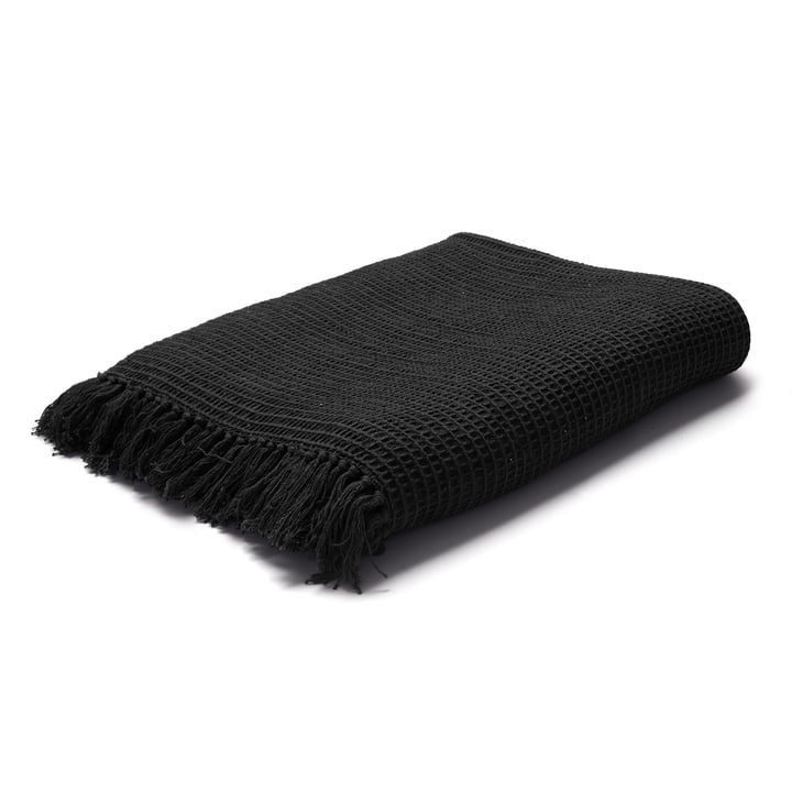 Land Cushion / Blanket in Black by Juna