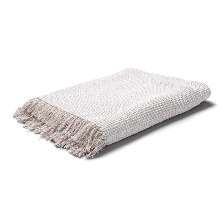 Land Bedspread / Woollen blanket in nude from Juna