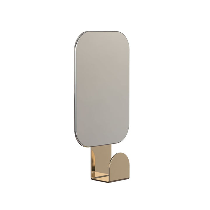 Rectangular Mirror U4121 with Hook / Gold by Frost