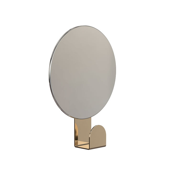 Mirror U4120 with Hook, Round / Gold by Frost