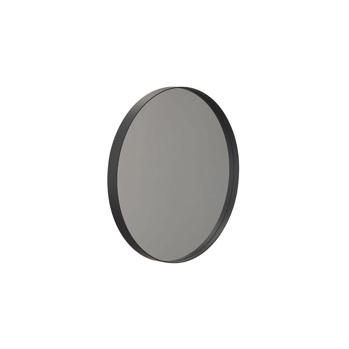 Round Unu wall mirror 4134, Ø 40 cm in black from Frost