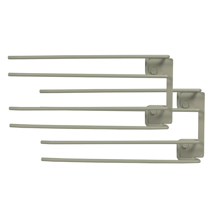 String - Hanger Rack module for wine glasses, 16 x 30 cm, grey (set of 2)