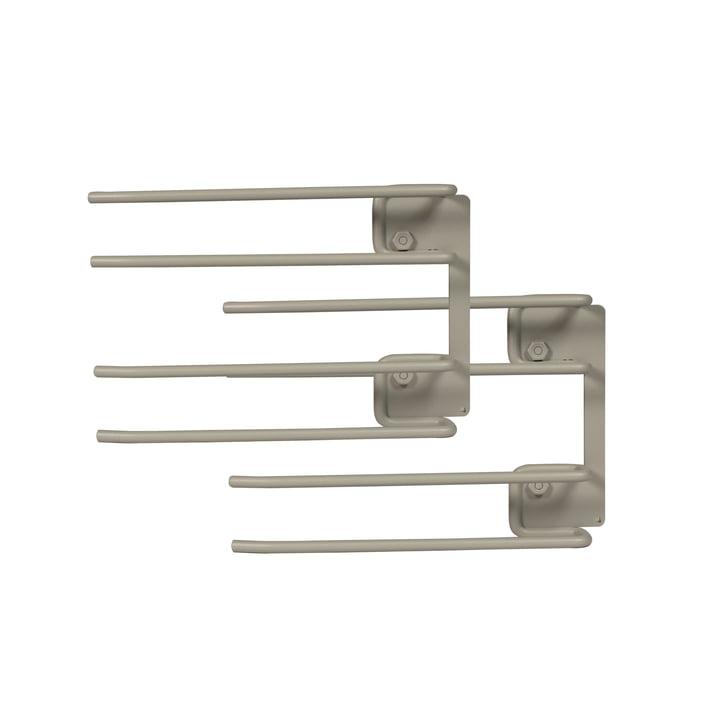 String - Hanger Rack module for wine glasses, 16 x 20 cm, grey (set of 2)