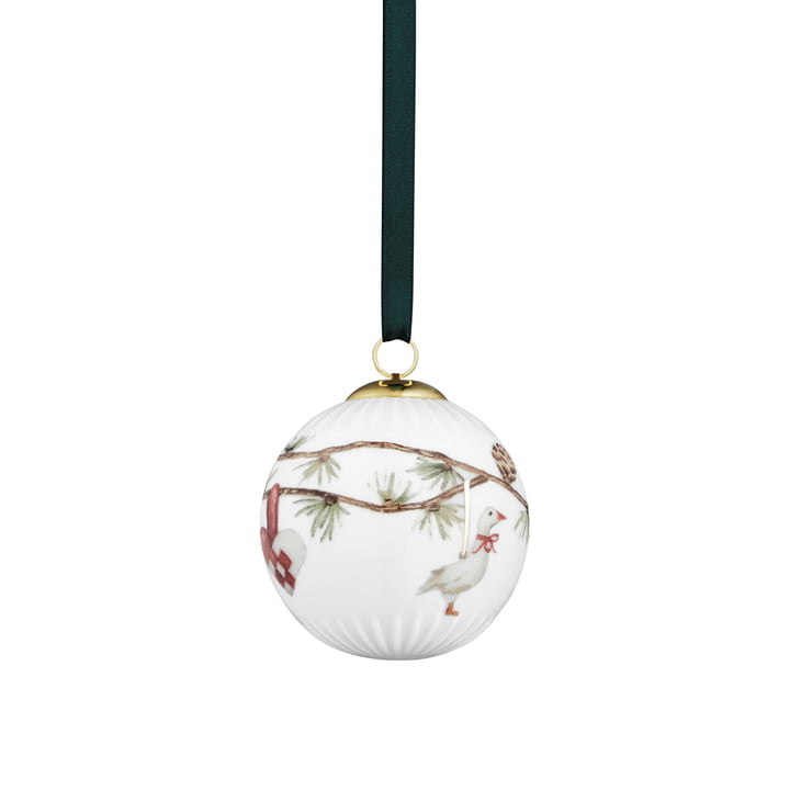 Die Kähler Design - Hammershøi deco ball Ø 6 cm, white with decoration
