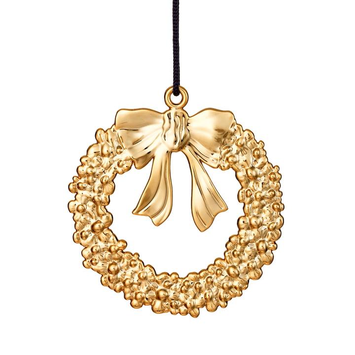 Christmas Wreath H 7 cm, gold by Rosendahl