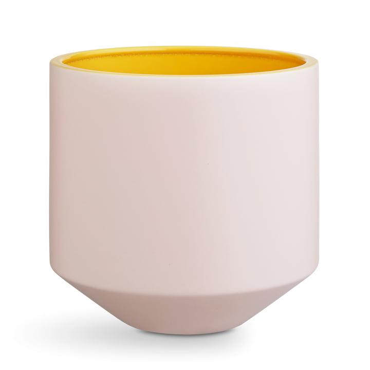 Kähler Design - Fiora Flowerpot H 25 cm, pink / yellow
