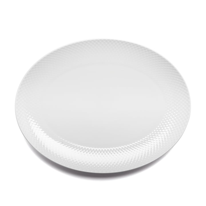 Rhombe Serving platter in white from Lyngby Porcelæn