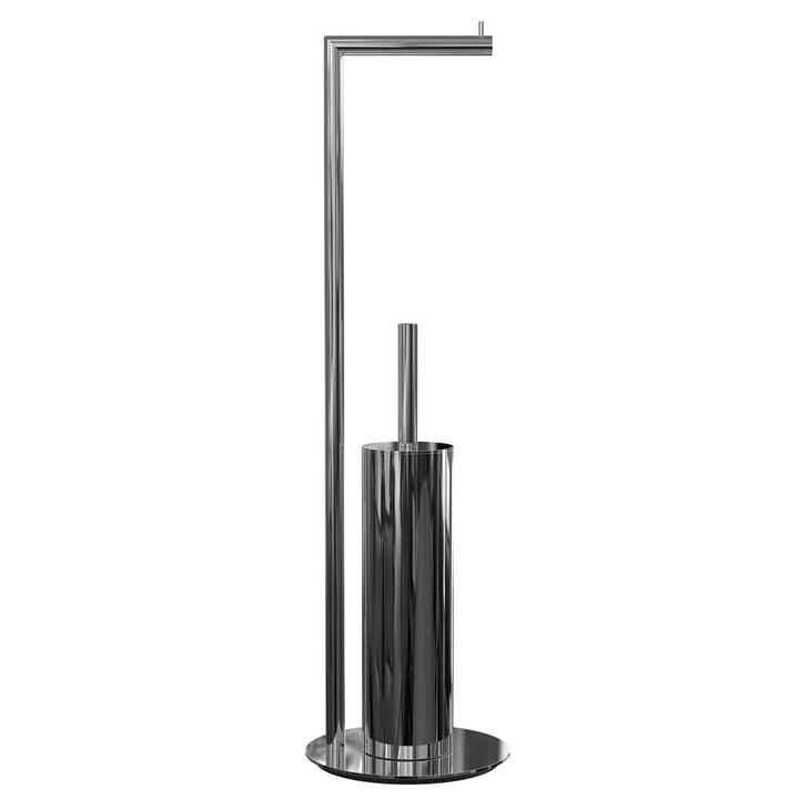Frost - Nova 2 Toilet Paper Holder and Toilet Brush, Freestanding, Polished Stainless Steel