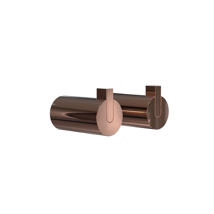Nova 2 Wall Hooks, Ø 25 x T 50 mm, copper (set of 2) by Frost