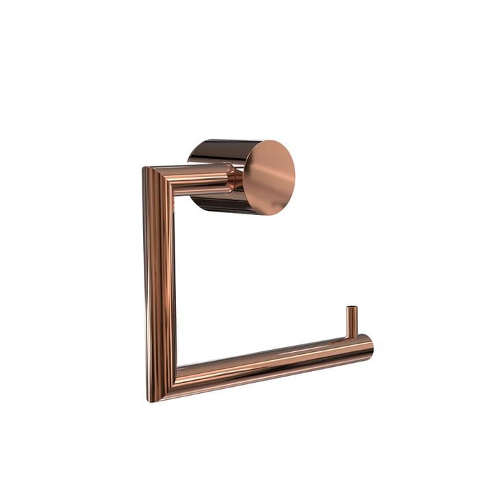 Nova 2 Toilet Roll Holder by Frost in Copper