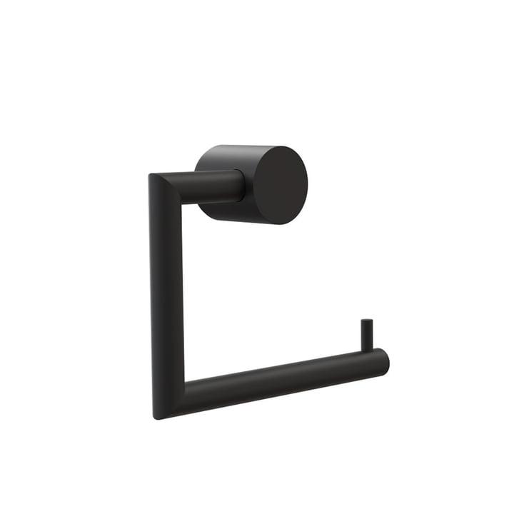 Nova 2 Toilet Roll Holder by Frost in Black
