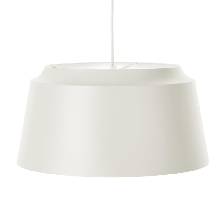 Groove Pendant Lamp from Puik, Ø 40 x H 20 cm in white