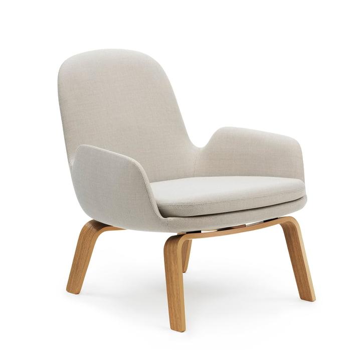 Era Lounge Chair Low by Normann Copenhagen in oak / light grey (Breeze Fusion 4104)
