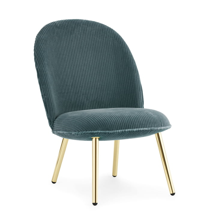 Ace Lounge Chair Cord by Normann Copenhagen in Brass / Green (Cord Uno 084)