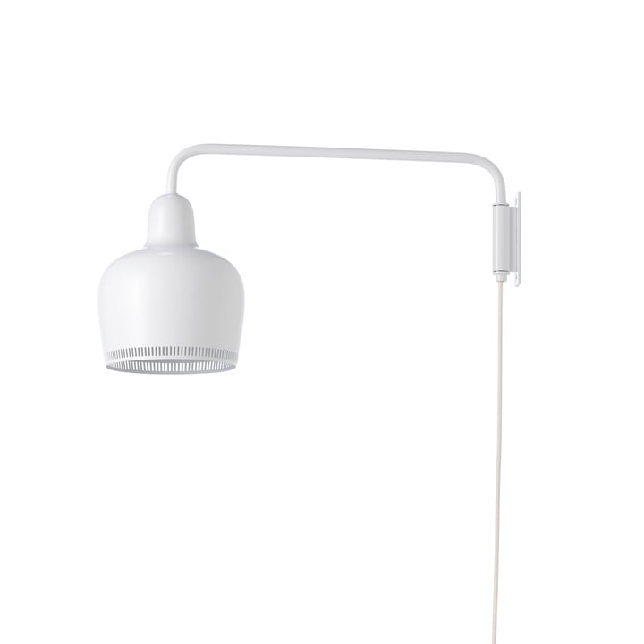 A330S Golden Bell wall lamp by Artek in white