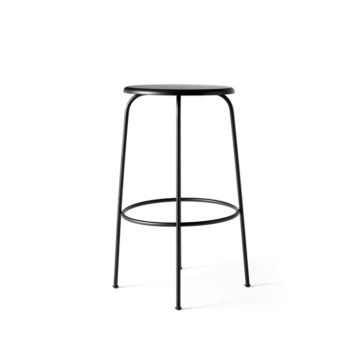 Afteroom Bar stool without backrest, H: 75 cm from Menu in black