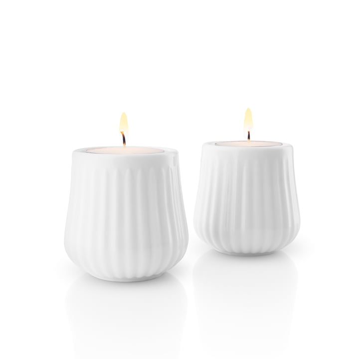 Legio Nova Tealight Holder in White (Set of 2) by Eva Trio