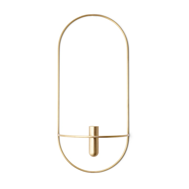 POV Candleholder Oval by Menu in Brass