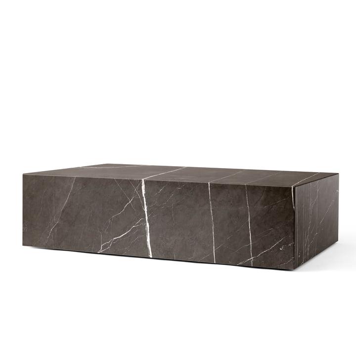 Plinth coffee table low from Menu in grey / brown