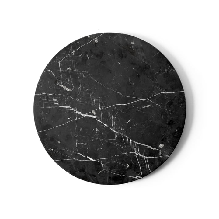 Table top for Androgyne side table Ø 42 cm from Menu in marble black