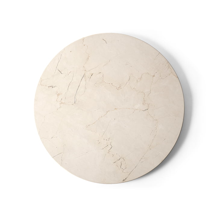 Table top for Androgyne side table Ø 42 cm from Menu in marble ivory
