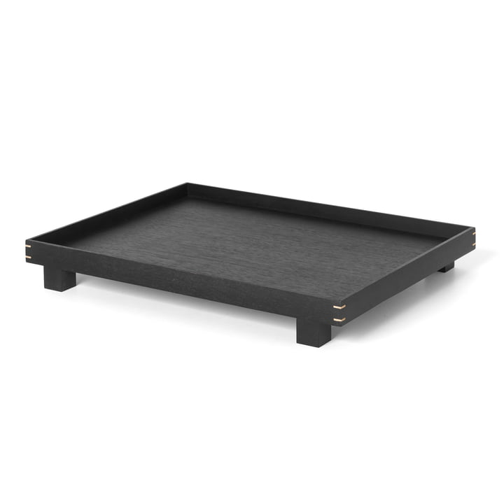 Bon Wooden tray large by ferm Living in black