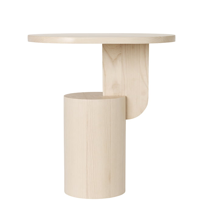 Insert Side Table by ferm Living in natural ash