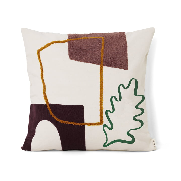 ferm Living - Mirage Cushion 50 x 50 cm, Leaf