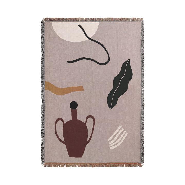 Mirage blanket 120 x 170 cm from ferm Living in grey