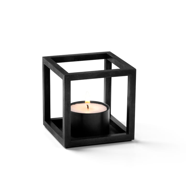 Kubus T Tealight holder from by Lassen in black