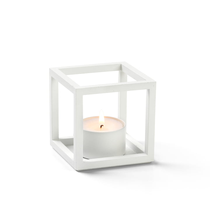 Kubus T Tealight holder from by Lassen in white