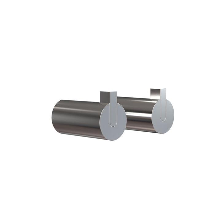 Frost - Nova 2 Wall Hook, Ø 25 x T 50 mm, polished stainless steel (set of 2)
