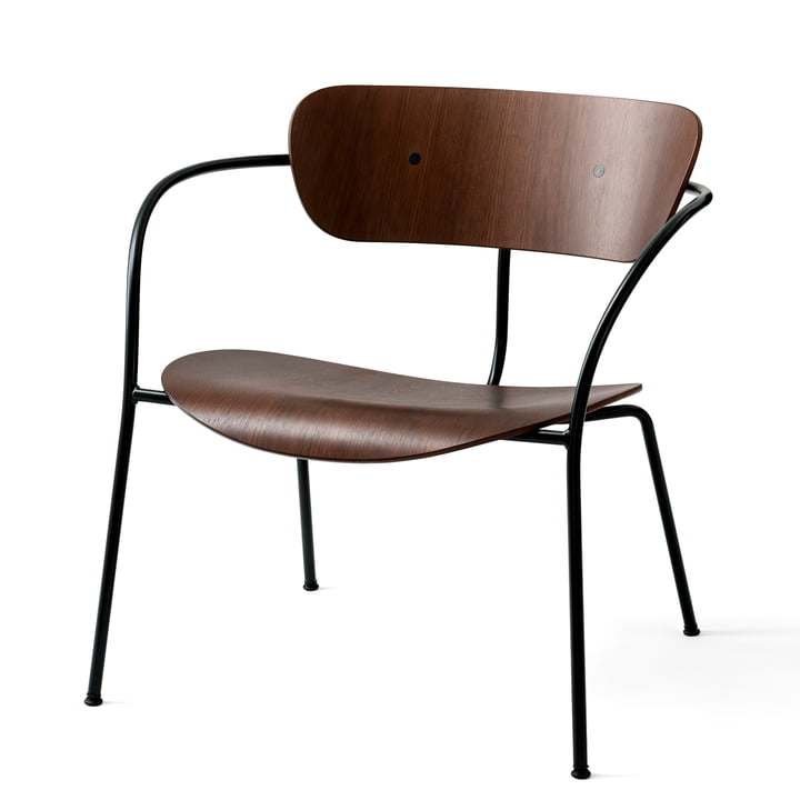 Pavilion Lounge Chair AV 5 by &tradition in black / lacquered walnut