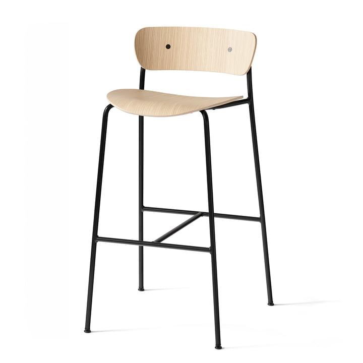 Pavilion Bar stool AV9 from & tradition - H 95 cm, black / oak lacquered