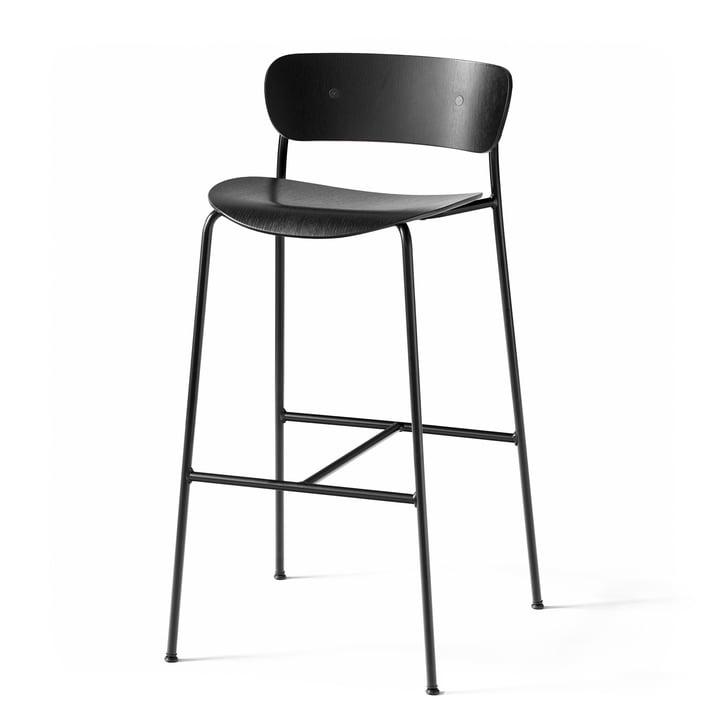 Pavilion Bar stool AV9 from & tradition - H 95 cm, black / oak black varnished