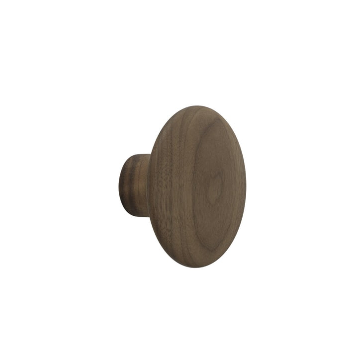 "Wall hook ""The Dots"" single small by Muuto in walnut"