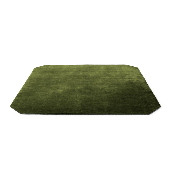The Moor carpet AP6 from & tradition - 240 x 240 cm, green pine