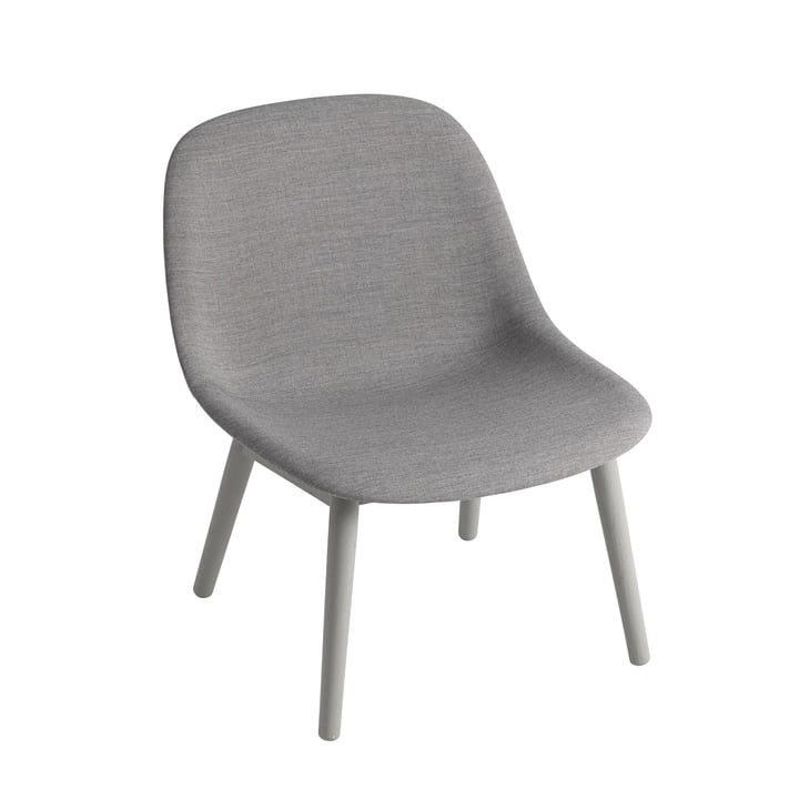 Fiber Lounge Chair Wood Base by Muuto in Oak grey / grey (Remix 133)
