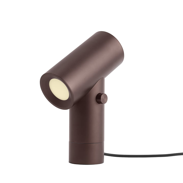 Beam LED table lamp by Muuto in umber