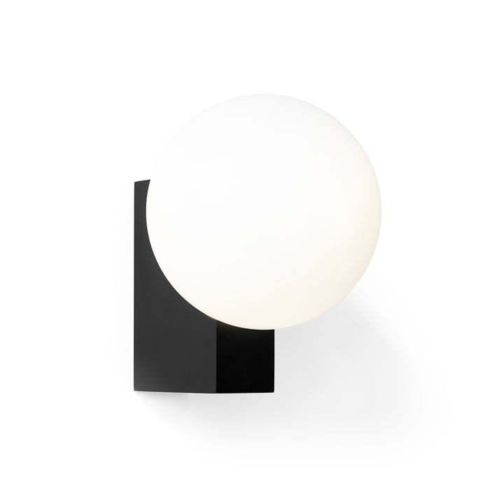 Journey SHY2 wall lamp by & tradition in black / opal glass