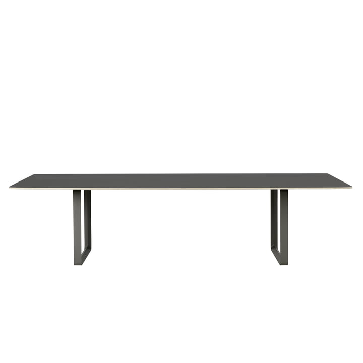 70/70 dining table 295 x 108 cm from Muuto in black (linoleum)