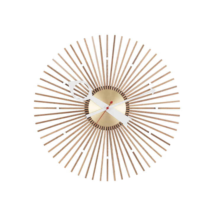 Popsicle Clock by Vitra in Walnut