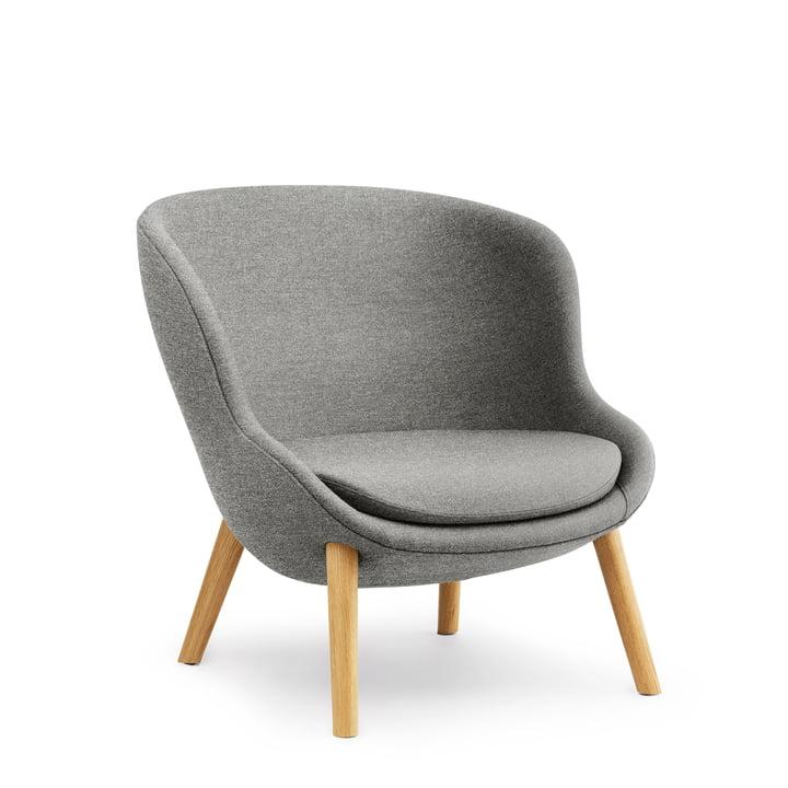 Hyg Lounge Chair Low by Normann Copenhagen - oak / grey (Flax MLF26)